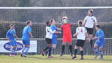 London Colney V Hoddesdon Town - Jack Metcalfe in action for London Colney.Picture: Karyn Haddon