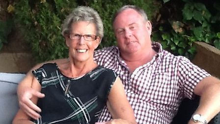 Jeanette Nelder, pictured with husband Steve, has been left with a broken leg and foot after falling