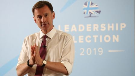 Conservative party leadership contender Jeremy Hunt . Photograph: Andrew Matthews/PA Wire.