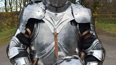 Paul Beddows is running the London Marathon in a suit of armour.