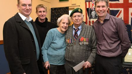 Ailwyn 'Blondie' Stephens received the Legion of Honour and other mementoes in a ceremony held in Ra