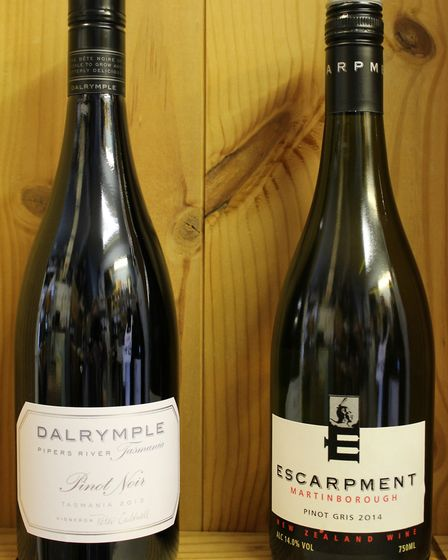 Some great examples of Pinot Noir and Pinot Gris.