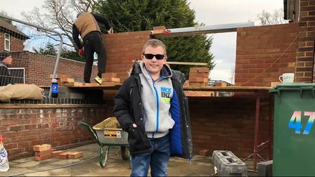 Shay is excited for the new build to be ready. Picture: Alan Murray