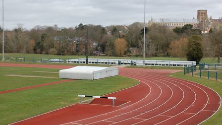 The running track near Westminster Lodge. Picture: St Albans City and District Council.