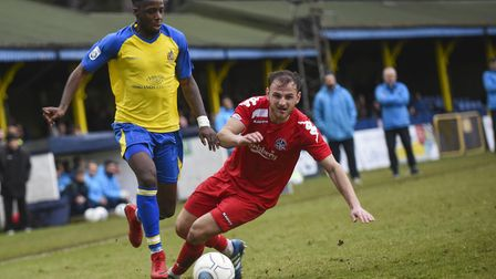 St Albans City's Rhys Murrell-Williamson scored a bizarre equaliser against Poole Town. Picture: BOB