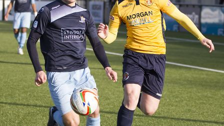 Leading scorer Dylan Williams found the net in St Neots Town's draw with Bishop's Stortford. Picture