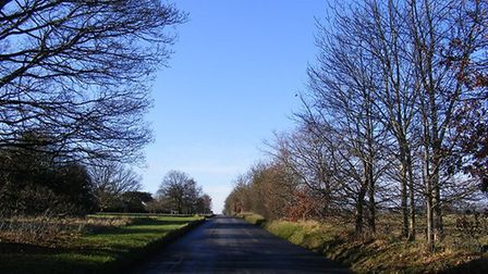 One of the roads that run through the common, near Harpenden and Kinsbourne Green.