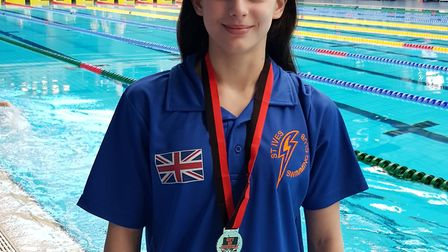 Bethan Endicott of St Ives Swimming Club.