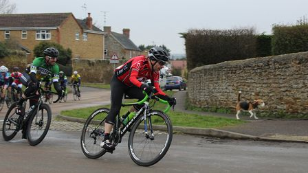 Tim Phillips of St Ives Cycling club during the NCRA race. Picture: KATIE CHANDLER