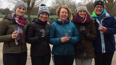 The St Neots W1 crew are, from the left, Nat Turland, Sarah Stewart, Sarah Leatham and Becki Dixon w