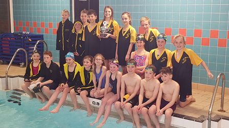 First Strokes Godmanchester celebrate their gala success.