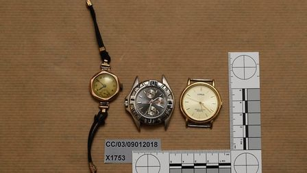 Cambs Police released images of suspected stolen items that were recovered from several properties a