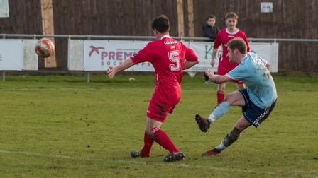 Austen Diaper hit his first goals since returning to Godmanchester Rovers as they won at Gorleston.