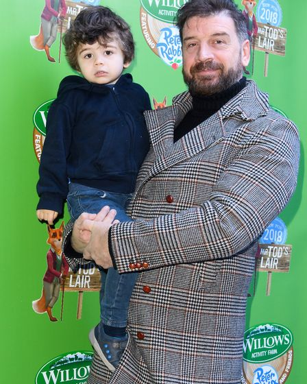 Nick Knowles at Willows Activity Farm.