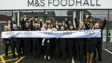 The M&S Foodhall opening in Marshalswick.