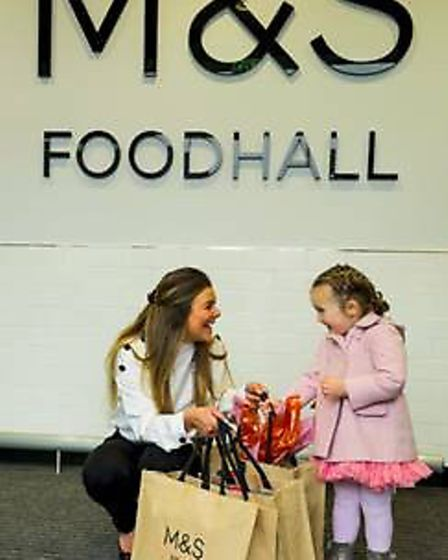 Marshalswick Pre School at the M&S Foodhall opening.