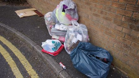 Waste in the Great Northern Street car park after some of it had been removed