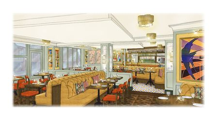 Artist's rendering of The Ivy St Albans Brasserie. Picture: Wickerwood & Co