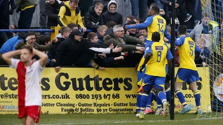 Co-owner Lawrence Levy would love more scenes like this with his aim of getting St Albans City into