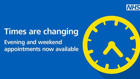 Extended hours NHS services.
