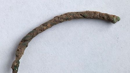 A bracelet fragment found at the site. Picture: Andrew Rafferty