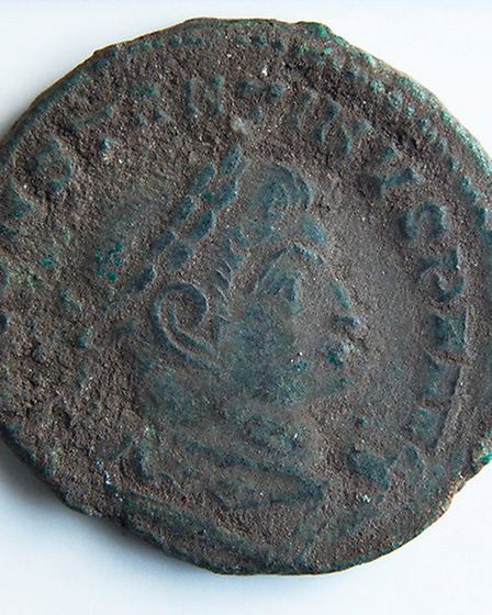 A roman coin found at the site. Picture: Andrew Rafferty