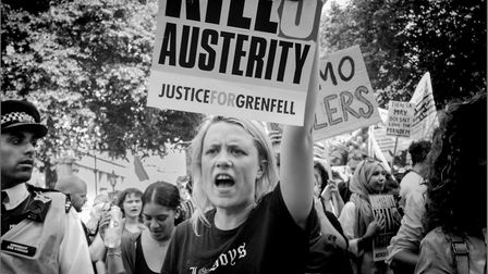 'Austerity Kills - Justice for Grenfell' by Steve Collins.
