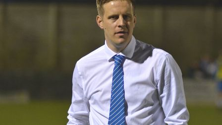 Eynesbury Rovers manager Mark Ducket was forced into action as a player last Saturday.