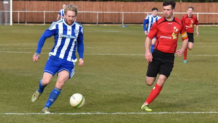 Eynesbury Rovers striker Craig Smith picked up an injury against his former club Peterborough Northe