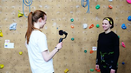 Herts Advertiser reporter Franki Berry interviews Westminster Lodge climbing manager India Herbing.