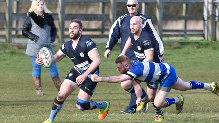Stefan Gallucci (left) scored St Neots' first try in their semi-final triumph. Picture: J BIGGS PHOT