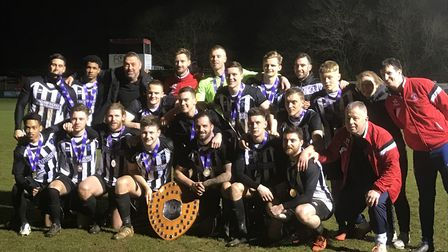 Colney Heath, the winners of the 2018 Herts Charity Shield. Picture: STEPH WHITAKER