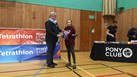 Raissa Vickery was crowned national champion at the Pony Club NFU National Triathlon Finals.