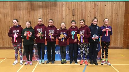Raissa Vickery (middle) was crowned national champion at the Pony Club NFU National Triathlon Finals