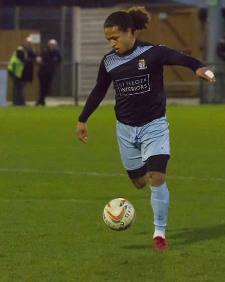 Jordan Norville-Williams scored his first St Neots Town goal in their derby victory against St Ives