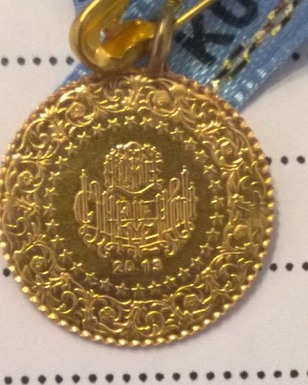 The stolen Turkish coins. Picture: Herts police
