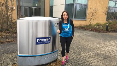 Travel consultant Carrie Taylor is running the London Marathon for Addenbrooke's Charitable Trust. P