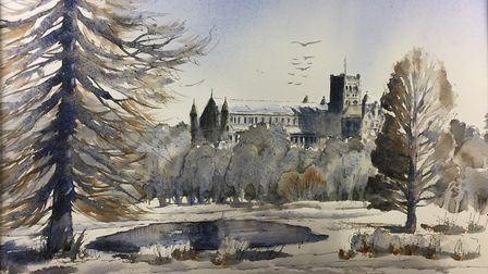 Fiona Pruden - St Albans Cathedral in Winter.