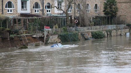 The flooding in St Neots PICTURE: Stuart Buckminster