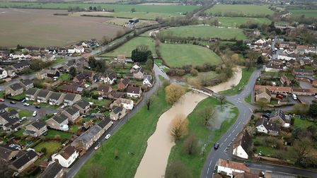 Alconbury where the brook was the subject of a flood alert
