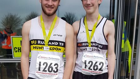 William Dales and Reece Millard were victorious for Huntingdon BR Run & Tri.