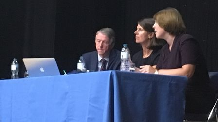 Alan Davidson, Carol Boston and Laura Rawlings on the RSAT panel at a meeting with parents last year