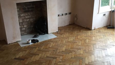 Nearly done: The parquet project is close to completion