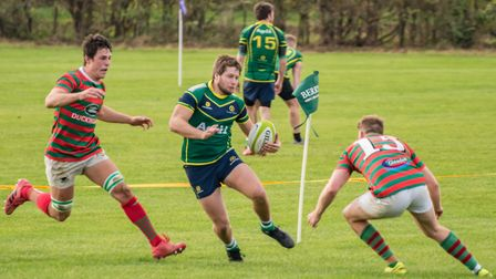 Barnie West scored two of Huntingdon's tries against Paviors. Picture: J BIGGS PHOTOGRAPHY