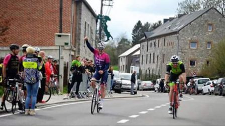 Verulam Reallymoving's Marcel Six takes the win in Bioul, Belgium.