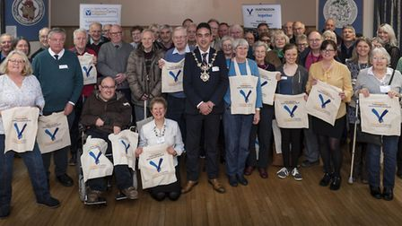 Huntingdon Volunteer Centre members with Councillor Jay Dyne. Picture: MARK BUNTING