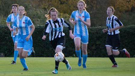 Katherine Speed scored in both St Ives Town Ladies wins on Sunday. Picture: JEFF CHAPMAN
