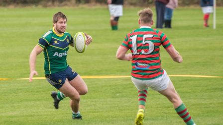 Barnie West scored one of Huntingdon's tries in the narrow defeat at Oundle. Picture: J BIGGS PHOTOG