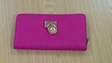 A Michael Kors purse recovered from Oysterfields by police. Photo: Herts Police.