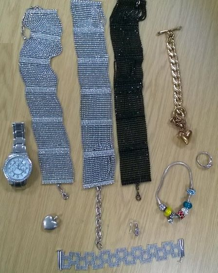 Jewellery recovered from Oysterfields by police. Photo: Herts Police.